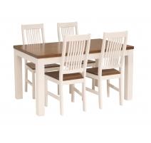 Aino-pöytä 140 cm valko-pähkinä