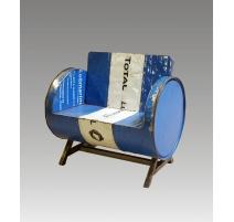 Zinc-tynnyrinojatuoli sininen