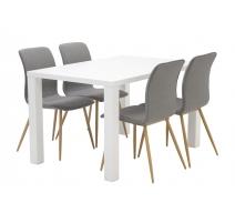 Carla-ruokapöytä Luis-tuoleilla