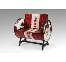 Zinc-tynnyrinojatuoli punainen